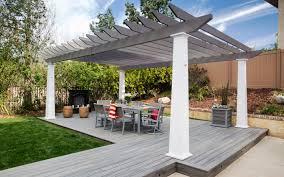 Decks And Pergolas Construction Manual by Low Maintenance Engineered Pergola Kits By Trex