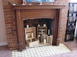ana white little crate fireplace decor diy projects
