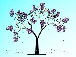 blooming spring tree vector art u0026 graphics freevector com