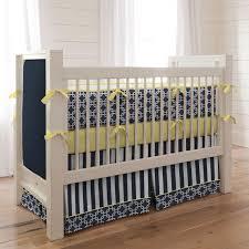 Yellow Crib Bedding Set Custom Monogrammed Crib Bedding Gray And Aqua Navy And Citron Zig