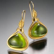 peridot earrings green peridot cabochon earrings hamilton jewelry