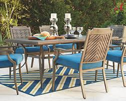 outdoor rectangular dining table outdoor dining tables for your patio ashley furniture homestore