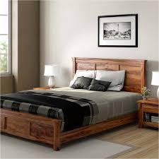 Wood Platform Bed Frame Farmhouse Rustic Solid Wood Platform Bed