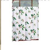 Christmas Kitchen Curtain by Deck The Halls Christmas Kitchen Curtain Linens4less Com
