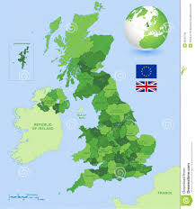 Map Of England With Cities by Uk Administrative Green Map Set Stock Vector Image 55520742