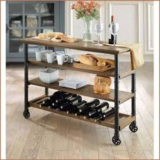 rolling farmhouse kitchen island cart industrial rustic console