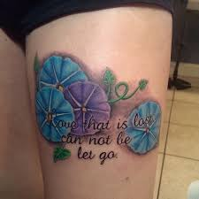 colorful flower and phrase localcolortattoo com