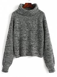 pullover sweater turtleneck heathered pullover sweater gray sweaters one size zaful