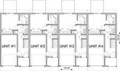 upper floor plan 2 for triplex house plans small townhouse plans