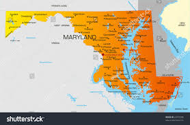 maryland map vector vector color map maryland state usa stock vector 25975396