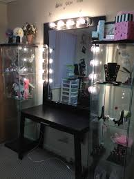 Corner Makeup Vanity Set Bedrooms Makeup Vanities For With Lights Trends And Bedroom Black