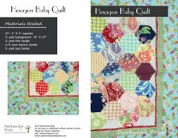 5 inch hexagon template printable and baby quilt pattern