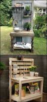 Plant Bench Plans - potting bench inspired by pinterest and repurposed from surplus