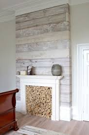 ideas wood wall design combined with fake fireplace and fireplace