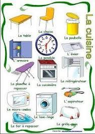 dans la cuisine la cuisine explique quels objets il y a dans ta cuisine et ceux