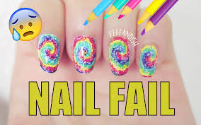 nail fail diy nail art using colored pencils youtube