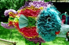 make a tropical fish piñata boy