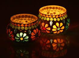 mosaic home decor heartfelt gratitude set of 2 glass mosaic tea light candle