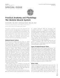 practical anatomy and physiology the skeletal muscle system