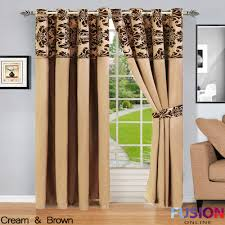 Curtains Ring Top Ring Top Fully Lined Pair Eyelet Ready Curtains Luxury Damask