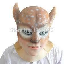 Deer Head Halloween Costume Beauty Deer Demon Latex Mask Head Halloween Masks Women