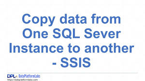 Sql Copy Table From One Database To Another Copy Data From One Sql Sever Instance To Another Ssis Youtube
