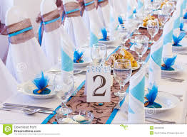 wedding table with number two stock photo image 33649346