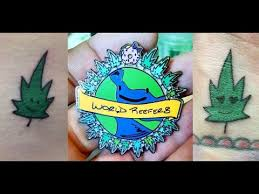 pot leaf tattoo for my internet friends coralreefer youtube