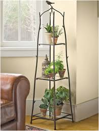 Folding Bakers Rack Plant Stand Unusual Metal Plant Shelves Photo Design Indoor