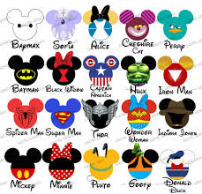 choose your mouse head characters disney family vacation digital