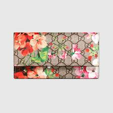 bloom wallet gucci women gg blooms continental wallet 404070ku2in8693