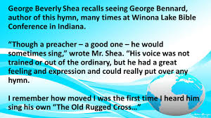 the old rugged cross george bennard for god so loved the world