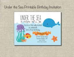 birthday invites cozy under the sea birthday invitations designs