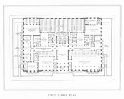 first floor plan steel frame version of the central library of