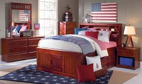 discovery world furniture merlot full size captains bed