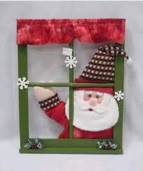 swing singing santa window frame decorations id