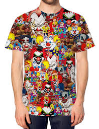 funny halloween t shirts clown all over print t shirt halloween top fancy dress costume
