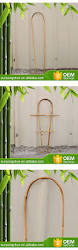 natural materials indoor bamboo ladder trellis u0026 u garden hoops