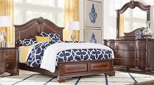 cortinella cherry 5 pc queen panel bedroom queen bedroom sets
