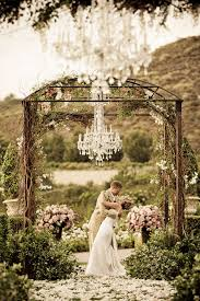 outside weddings chandeliers and outdoor weddings the magazine