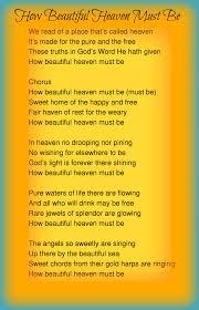 thanksgiving hymns how beautiful heaven must be lyrics hymns u0026 praise u0026 worship