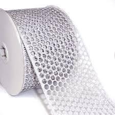 honeycomb ribbon 40 diamond honeycomb ribbon silver 50 yd roll