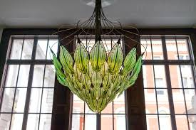 extraordinary living chandelier with algae filled leaves purifies