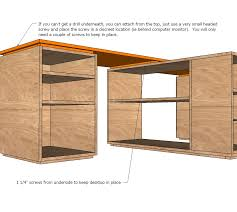 ana white eco modular office desktop made with purebond plywood