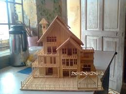 making a house making house by toothpicks diy to try pinterest house