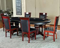 Poker Table Pedestal Pedestal Poker Table Set With Classic Chairs Pt 77051