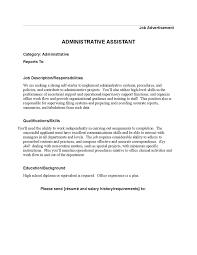 Receptionist Job Resume Vet Tech Resume Objective Examples Example Resume Supervisor