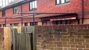 markilux pergola 110 with lighting panel two 1400w heaters wind