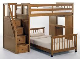bedroom stunning gallery of brown lacquer teak wood loft bunk