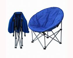 Blue Saucer Chair Folding Camping Chair Lawn Chairs Camping Chair Portable Chair